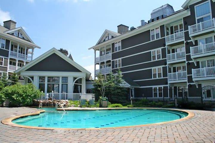 Allegheny Springs 140 Ground Level, slope side, ski in ski out, Snowshoe Resort Village Center!
