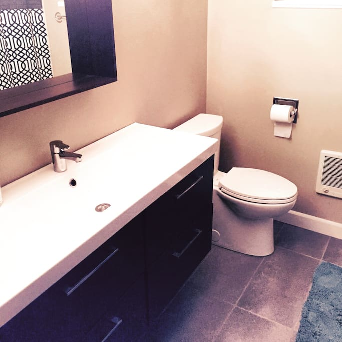 The bathroom you will be sharing with another Airbnb guest.