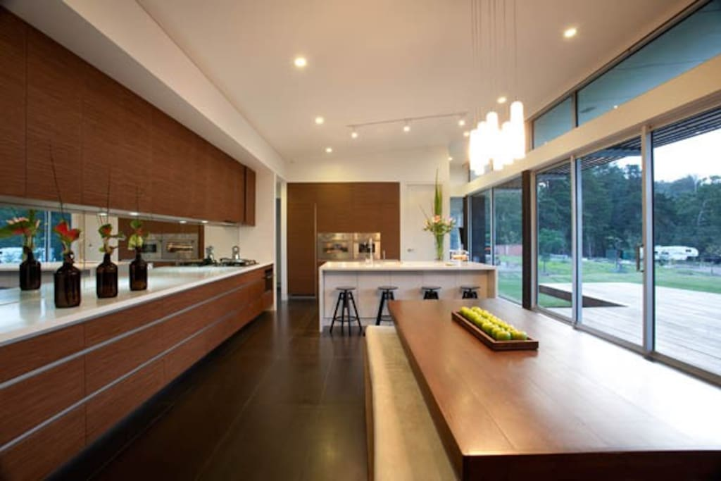 Entertainers kitchen with fabulous views