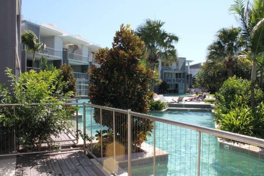 View of lagoon pool
