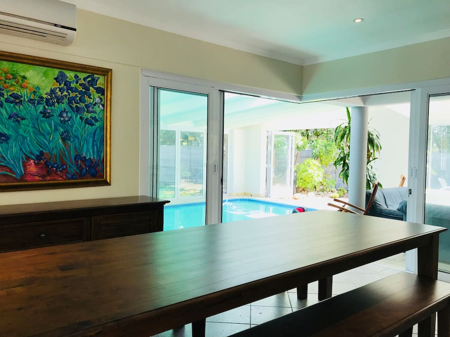 Dining Room over looking Pool