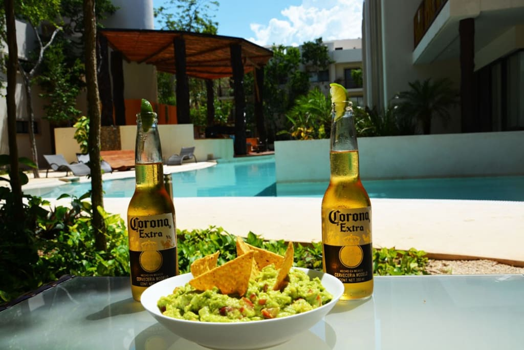 Beers & Guacamole on the Terrace!