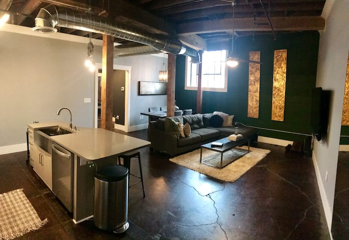 Modern Downtown Loft- Minutes from Superbowl