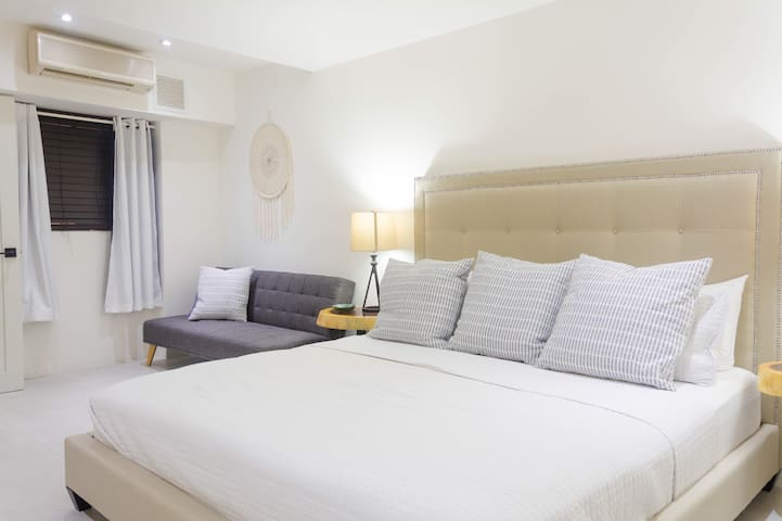 Master suite #1 with king size bed and convertible sofa bed