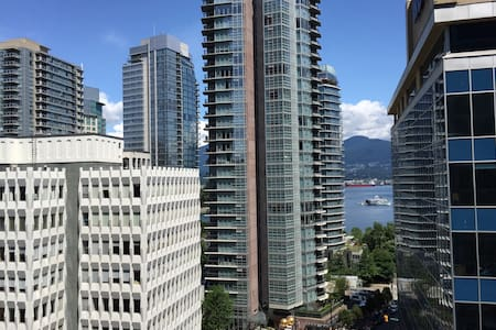 Amazing views from this luxury Coal Harbour 1 bedroom condo with secure underground parking. Gorgeous urban and water views out of every window. Fabulous restaurants and world class shopping just outside the door. The BEST of Vancouver!