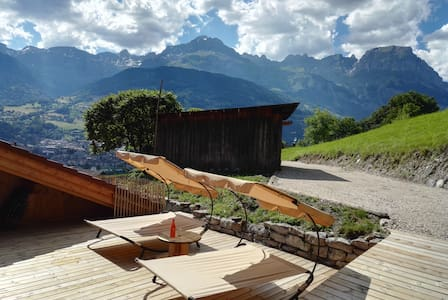 Chambre 2p avec SDB, petit-déjeuner et terrasse - Sallanches - Bed & Breakfast