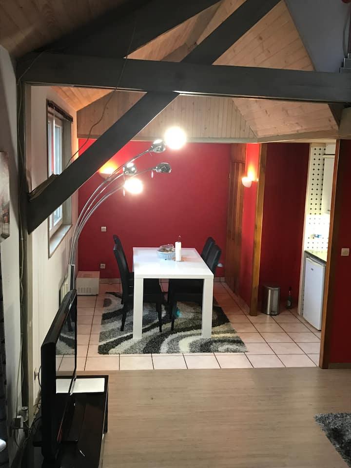 Appartement studieux de 60m2 à 10min de la gare