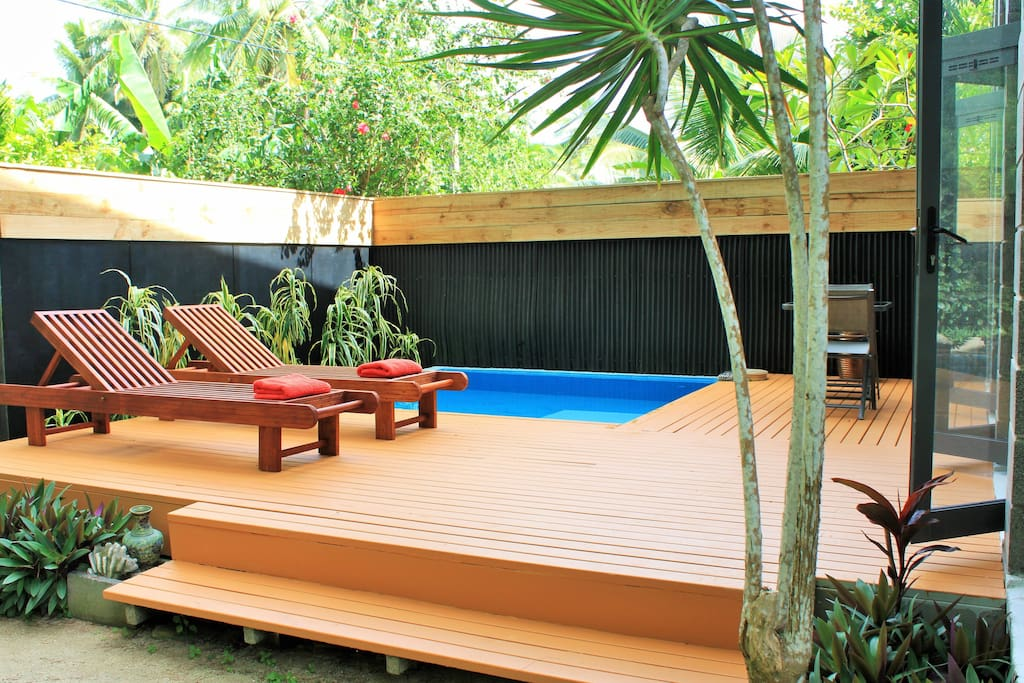 Private deck and plunge pool