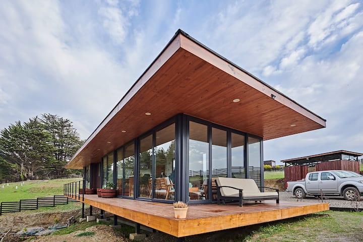 Casa condominio Punta de Lobos moderna y calentita