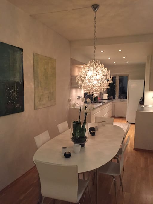 Dining and the kitchen