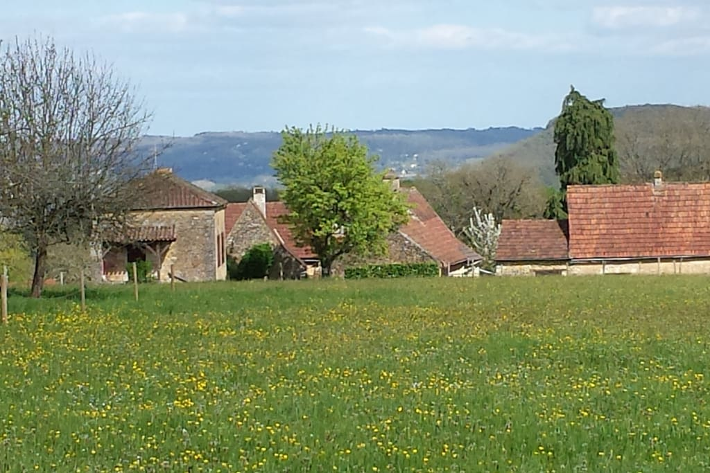Vue d'ensemble du hameau.