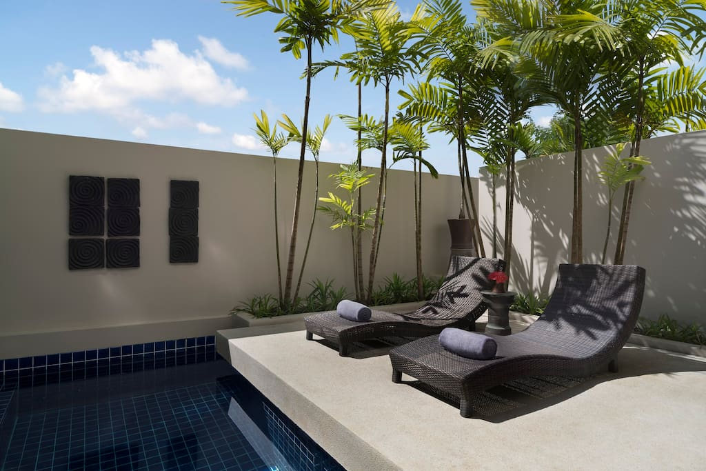 Outdoor Terrace and Plunge pool