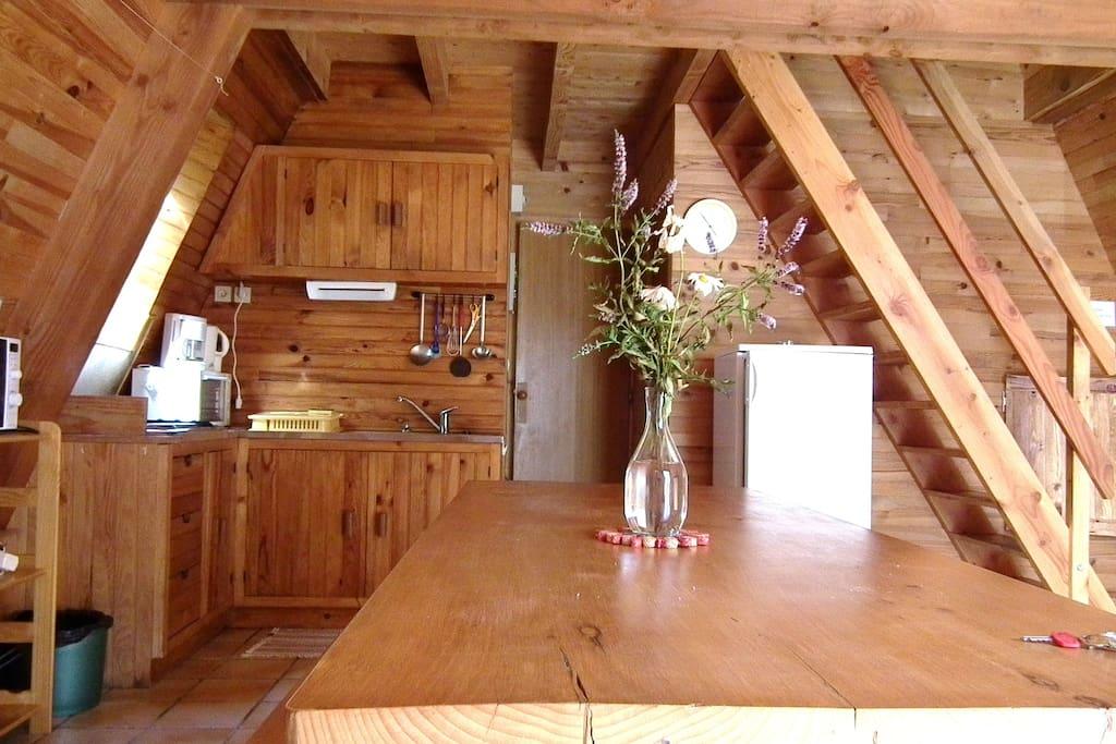 intérieur tout bois très agréable