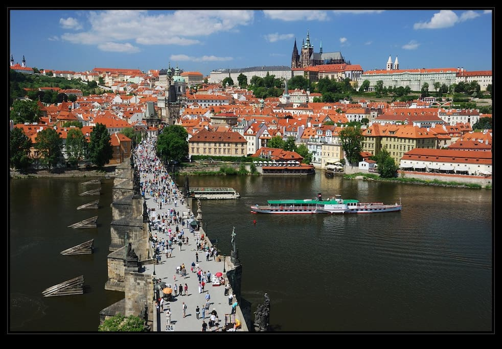 Charles Bridge, Prague Castle and Prague 1 -  Lesser Town, where is the accommodation