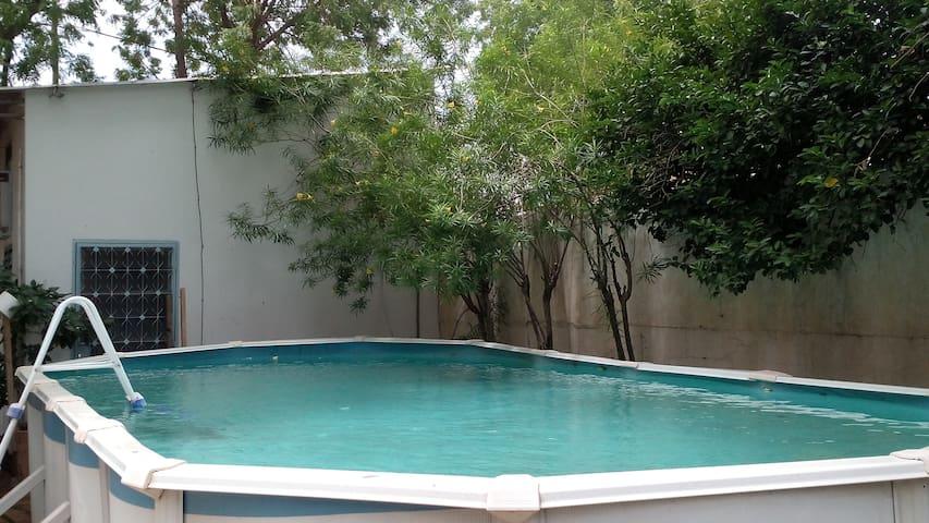Chambre dans coloc avec piscine - N'Djamena - Ev