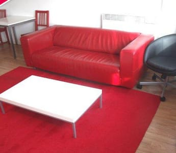 1 bedroom flat at a high standard in the heart of the city, walking distance to all amenities. A double bed in the living room accommodate 2 people (Please read the details)