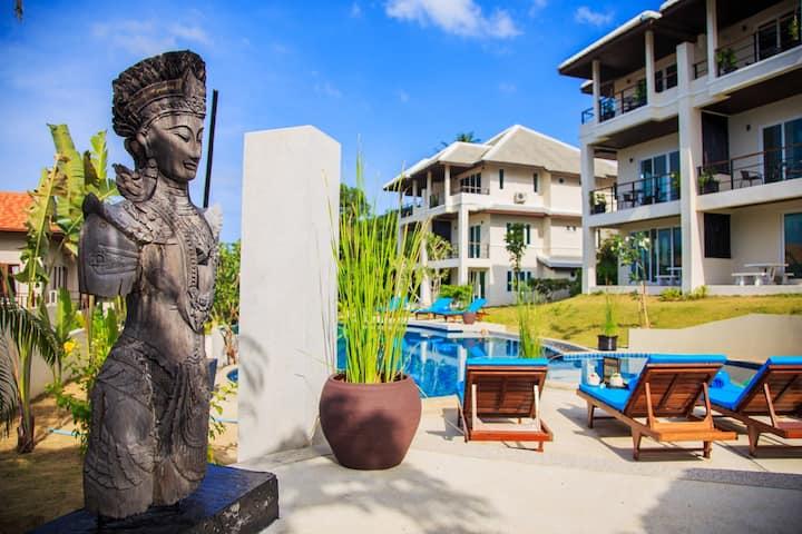 2-3 bedrooms villas- Service & View