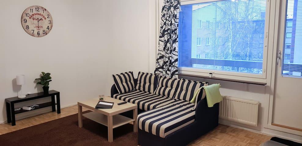 Central 2-room apartment in quiet area