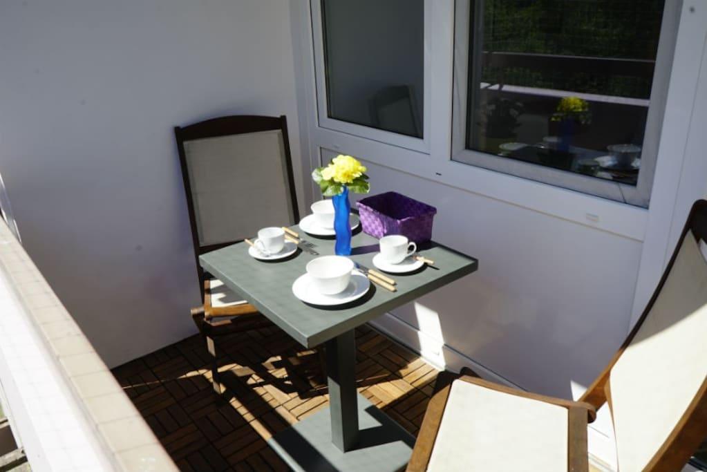Frühstücken in der Sonne