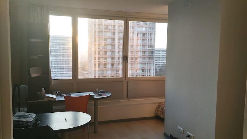 T1, 25m², 9ème étg,  10mn du centre - Villeurbanne - Apto. en complejo residencial
