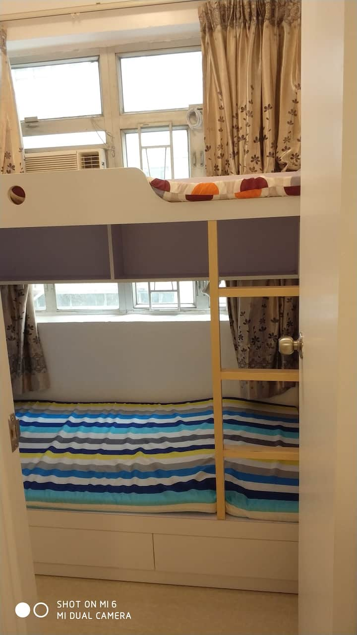 Studio w/bunkbed for 2 near HKU .... (st4b)