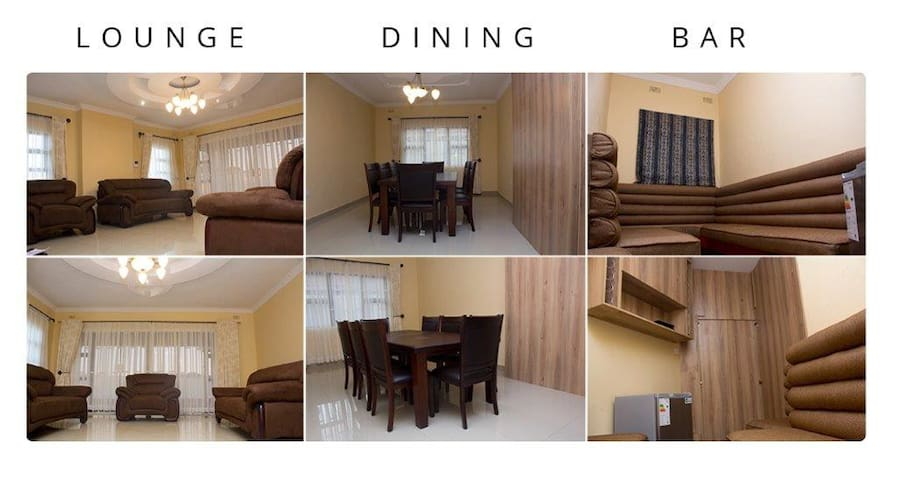 Sitting Lounge, Dining Room and Bar