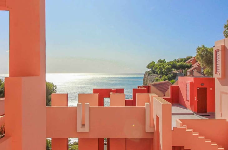 Studio in the Red Wall building by Ricardo Bofill