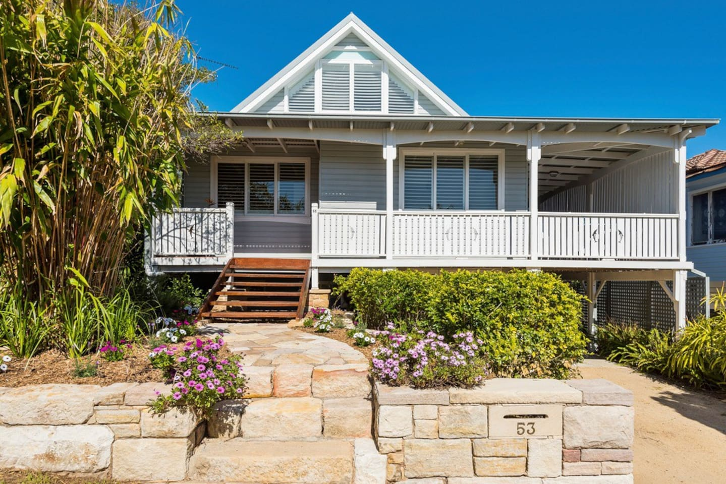 Classic Avalon beach house with 4 bedrooms and a large, flat back  garden.