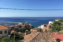 Utsikten fra balkongen!