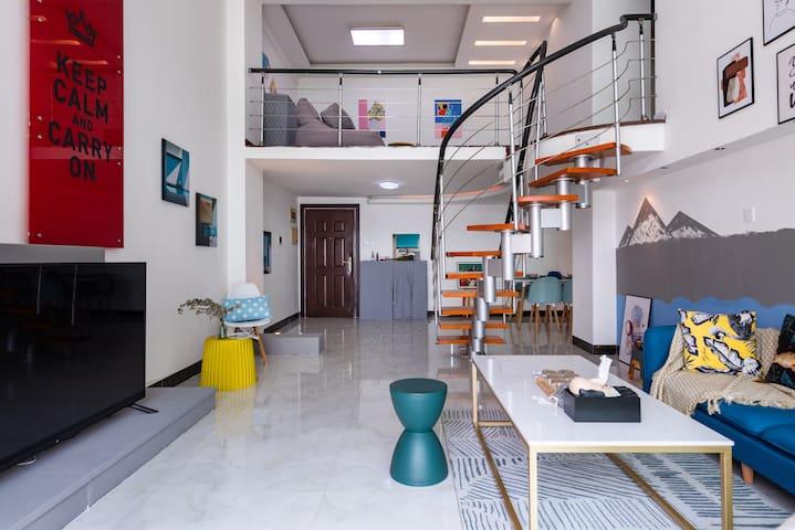 【blue】超大复式loft|全海景大三居室|近会展中心|黄厝海滩|BRT可达中山路