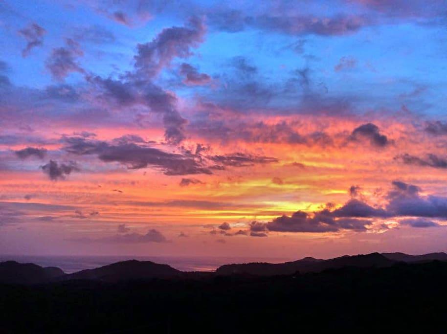 An evening view at Casa Bella