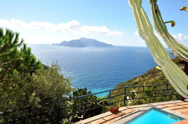 Villa with Capri view and pool!! - マッサ・ルブレンセ - 別荘