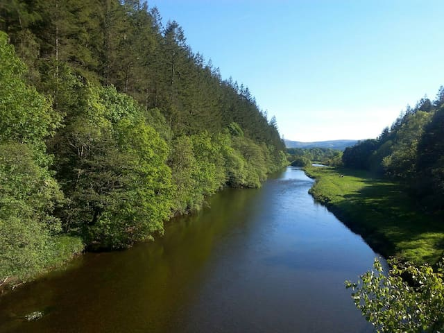 Cosy studio on banks of River Tweed - Peebles - Leilighet