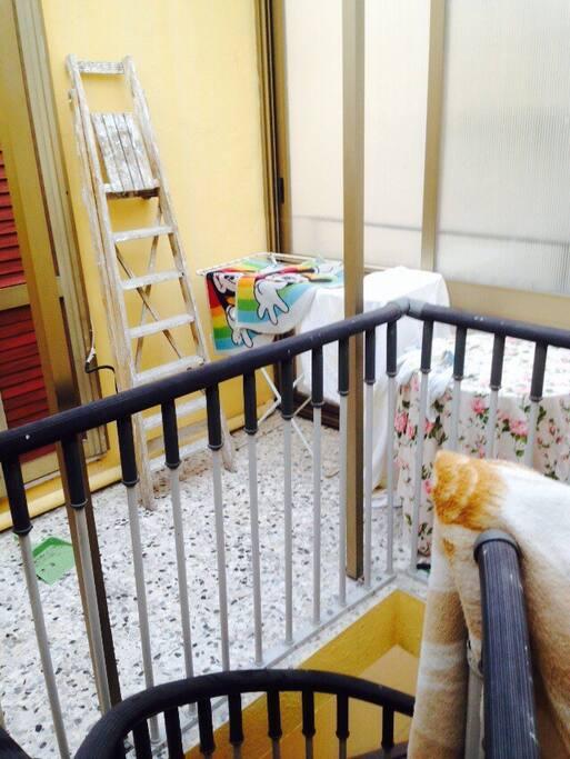 balconcino coperto