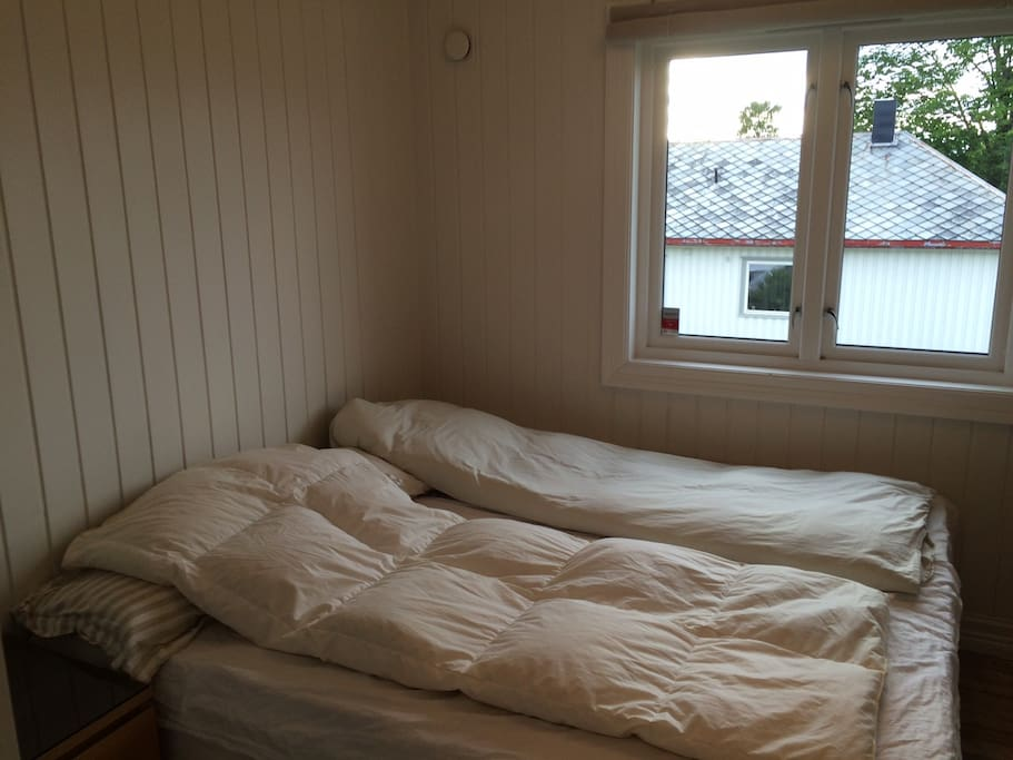 Main bedroom, large double bed.