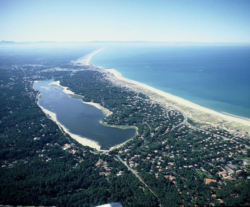 Hossegor : ocean and lake