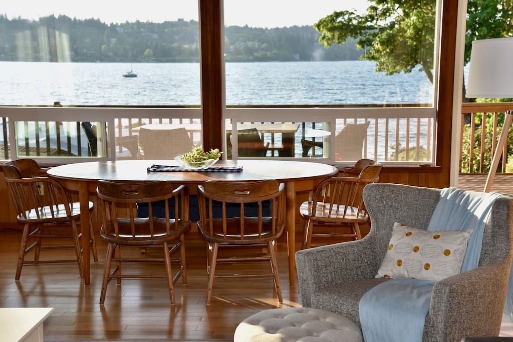 Harbor views await you from the cozy living spaces.