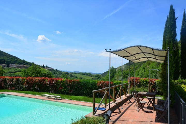 Charming house with pool in the Chianti - Florence - Greve in Chianti - Hus