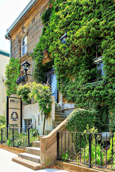 1870's stone façade ooses old-world charm