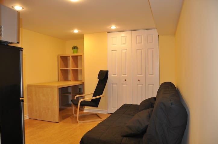 Lovely basement studio. On-site free 24-7 parking!
