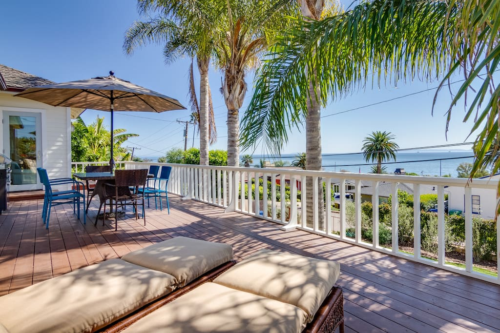 Relax on the chaise loungers or have a meal to stunning ocean views and lots of sunshine.