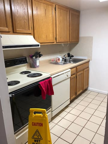Kitchen with Stove and Dishwasher