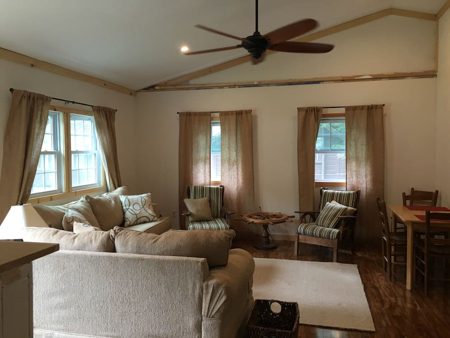 Main Room with sofa and love seat