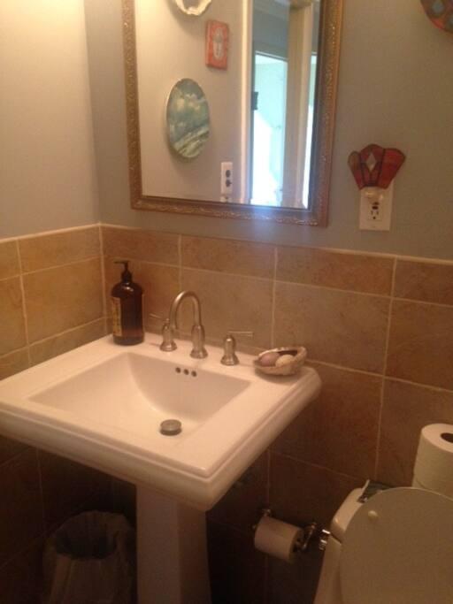 full elegant master bathroom