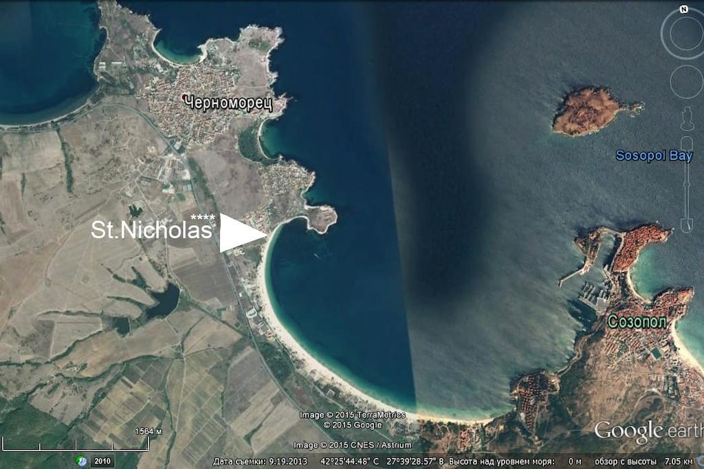 Царский залив между Созополь и Черноморец