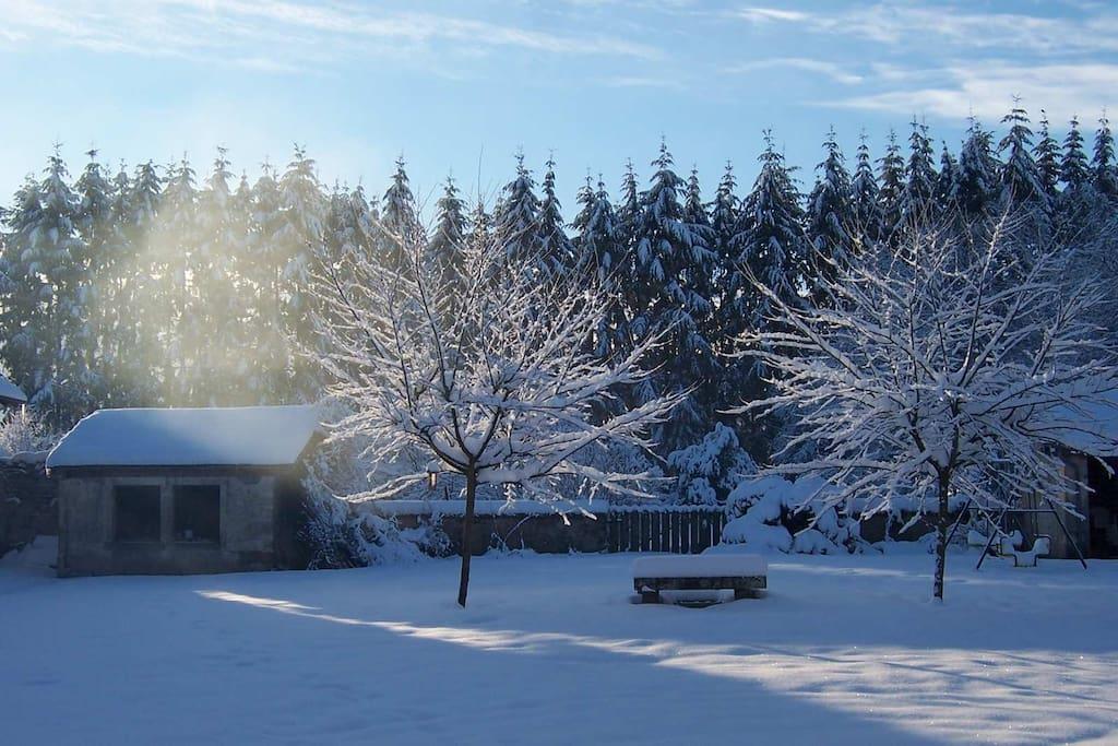 Le clos sous la neige