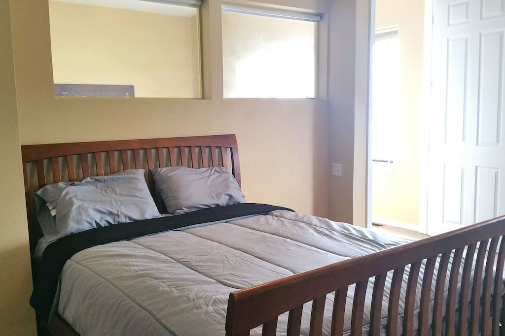 The upstairs has two bedrooms that will sleep two people each.
