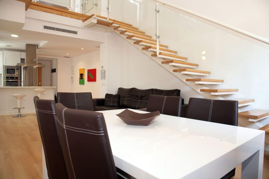 Duplex 6 8 pers 3 habitac centro b apartamentos en - Edificio palomar valencia ...