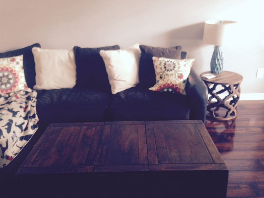 Sectional couch for an extra bed