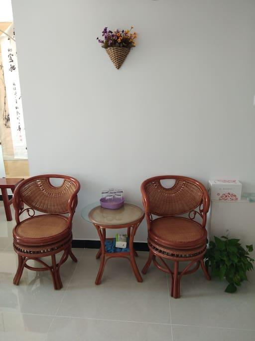 客厅休闲滕椅